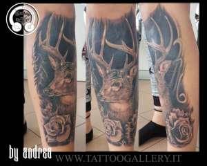 "alt=""animali realistici cervo tattoo""tt"
