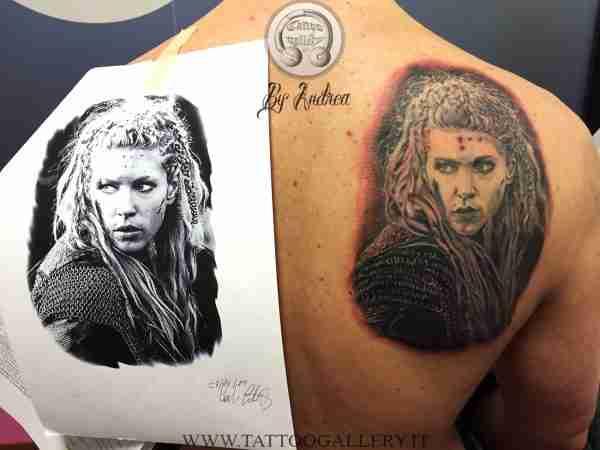 """alt=""""tatuaggi ritrattistici tattoo Lagherta Vikings"""""""