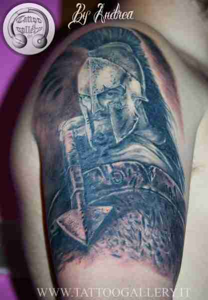 "alt=""tatuaggi ritrattistici leonida 300 by andrea"""