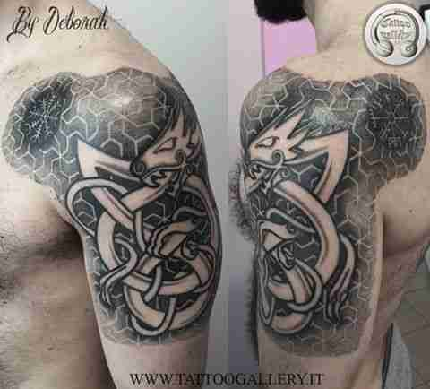 "alt=""tribal tattoo celtico puntinato by Deborah"""
