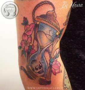 "alt="" news school tattoo hourglass"""