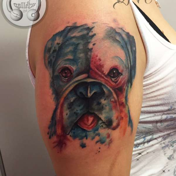 dog tattoo watercolor