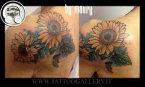 "alt=""tatuaggi newschool girasoli"""
