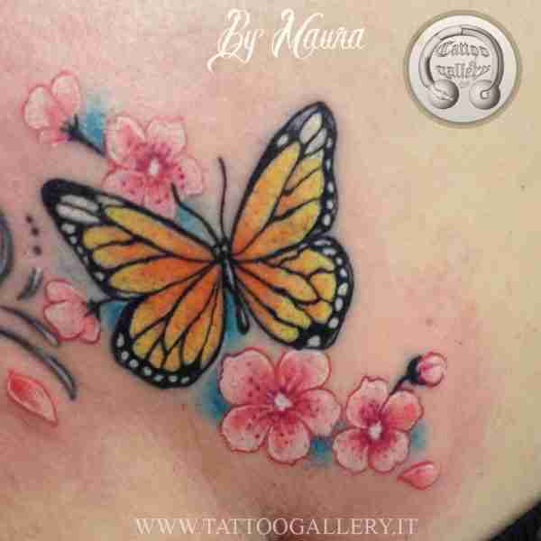 "alt="" news school tattoo butterfly"""