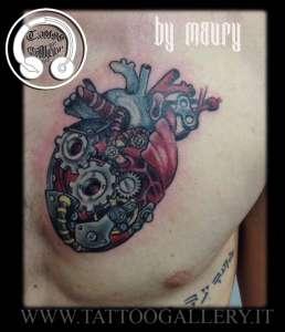 "alt=""cuore meccanico tattoo newschool"""