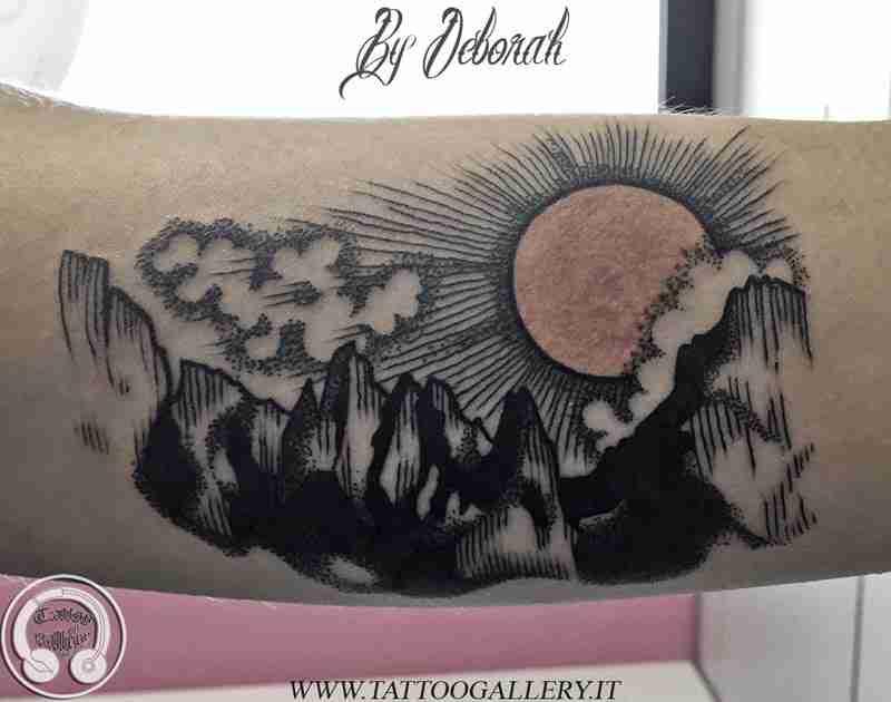 Tattoo montagne Dolomiti