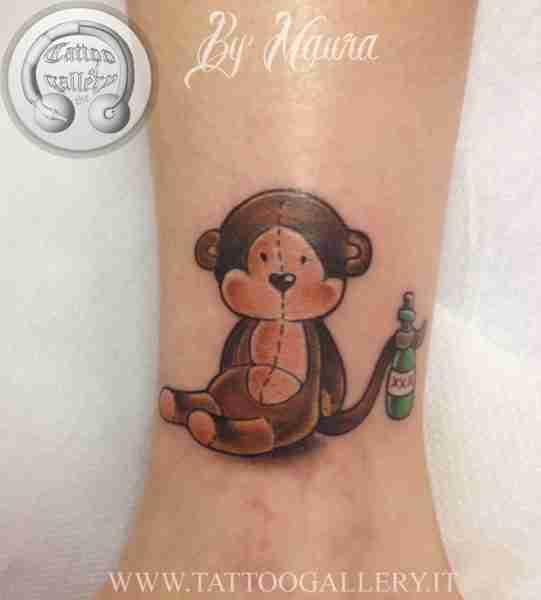 """alt="""" news school tattoo scimmia"""""""