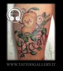 """alt=""""scritta liam tattoo new school"""""""