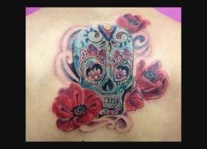 """alt="""" news school tattoo mexican skull"""""""