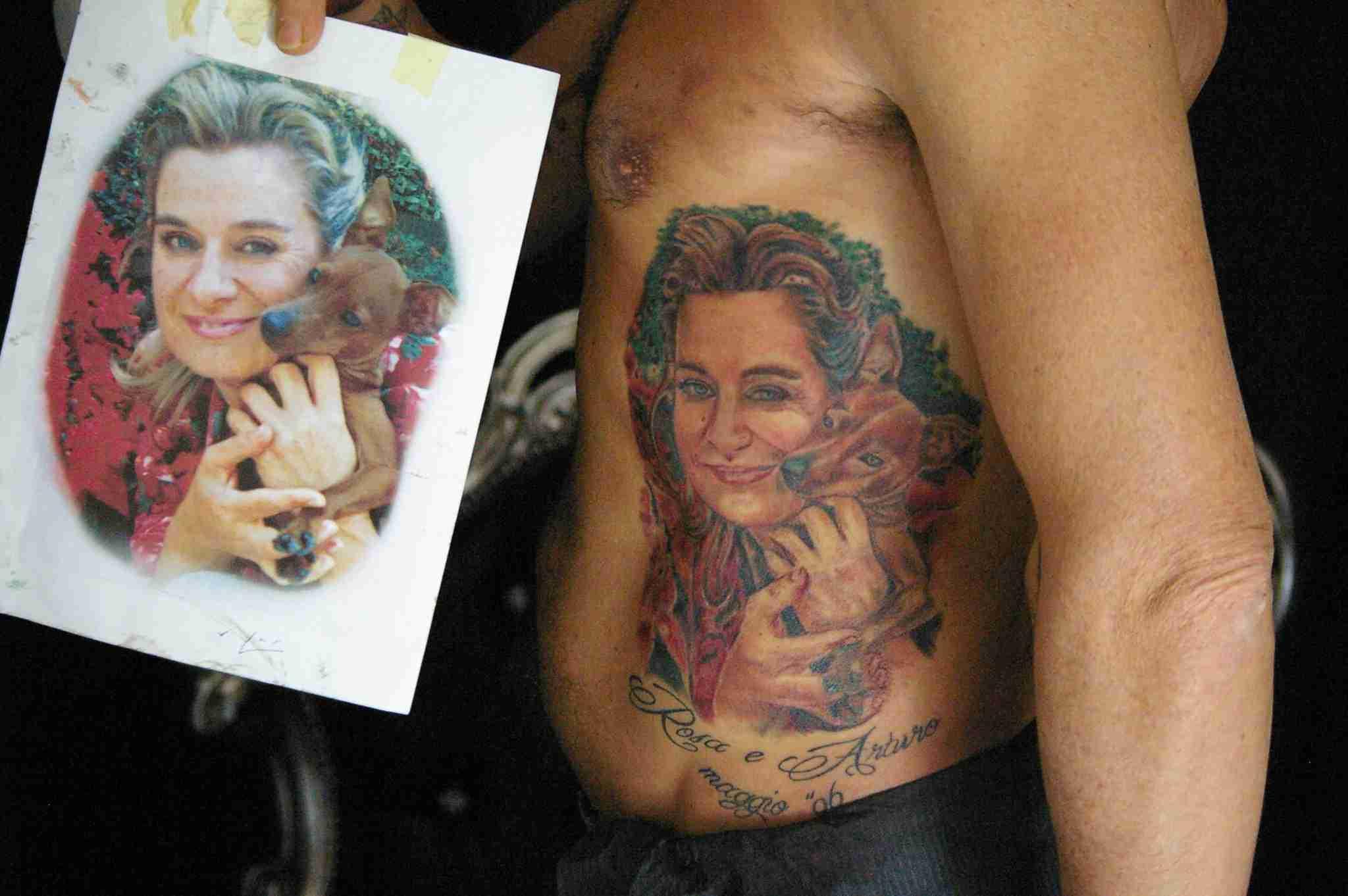 """alt=""""tatuaggi ritrattistici nonna by andrea"""""""