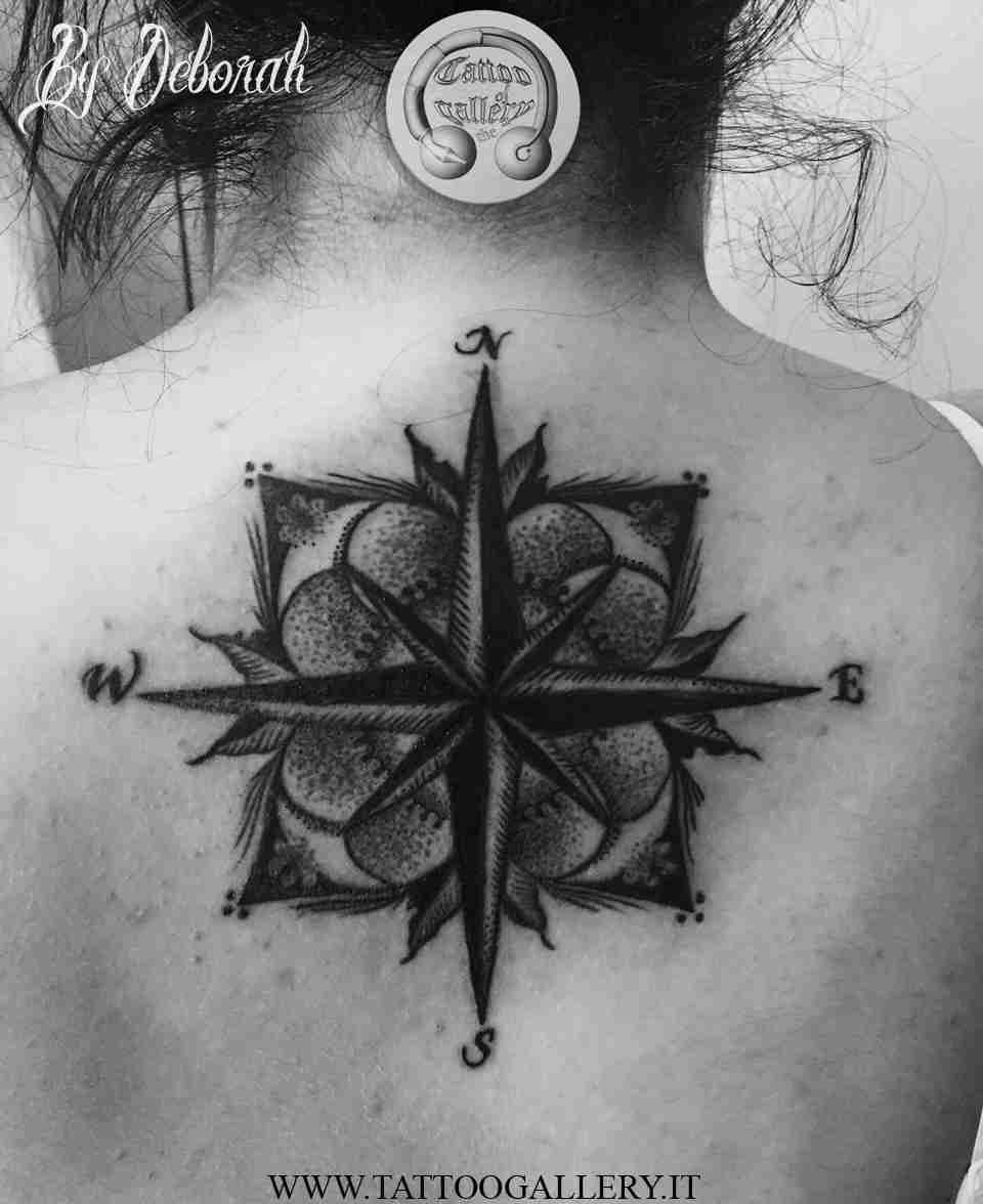 "alt=""Blackwork compass by Deborah"