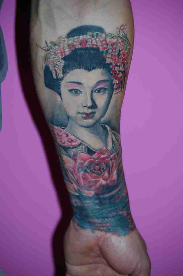 """alt=""""tatuaggi ritrattistici geisha by andrea"""""""