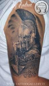 "alt=""tatuaggi ritrattistici leonida 300 sparta by andrea"""