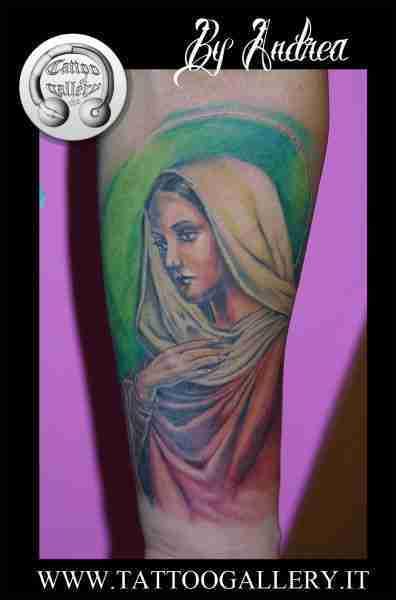 """alt=""""tatuaggi ritrattistici religiosi madonna by andrea"""""""