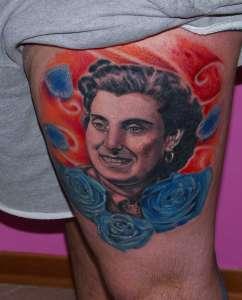 """alt=""""tatuaggi ritrattistici ritratto nonna by andrea"""""""