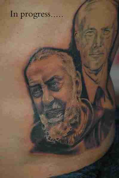 """alt=""""tatuaggi ritrattistici padre pio by andrea"""""""