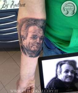 """alt=""""tatuaggi ritrattistici papà by andrea"""""""