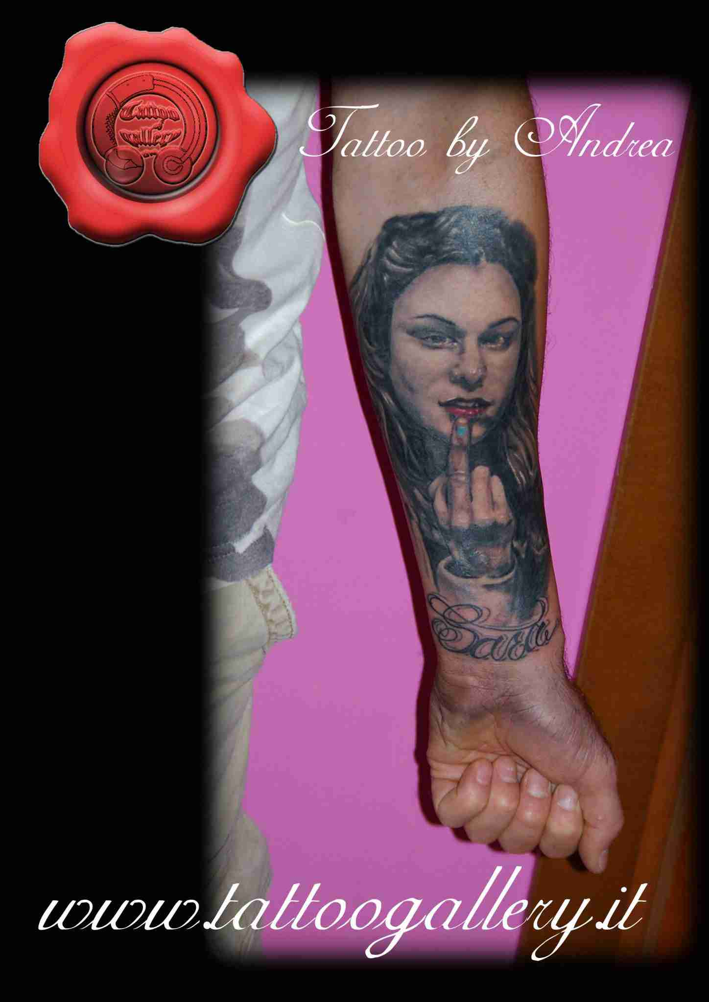 """alt=""""tatuaggi ritrattistici ragazza by andrea"""""""