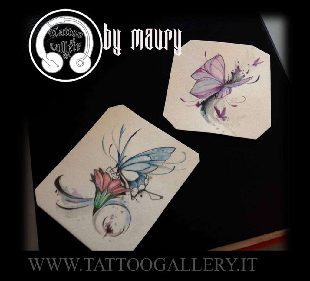 "alt=""new sketch tattoo farfalle"""