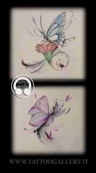 "alt=""sketch tattoo butterflies"""