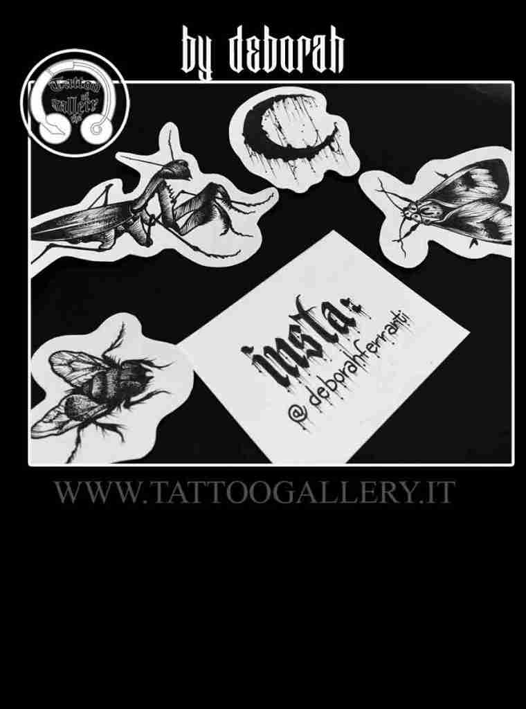 "alt=""tattoo disegni insetti by Deborah""y D"