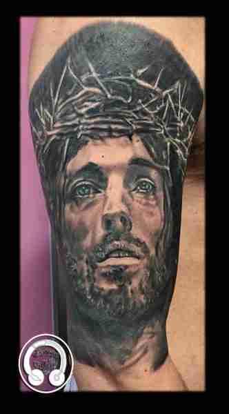 """alt=""""tattoo ritratti gesù"""""""