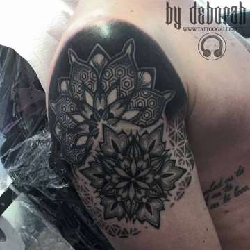 "alt=""mandala tattoo by Deborah """
