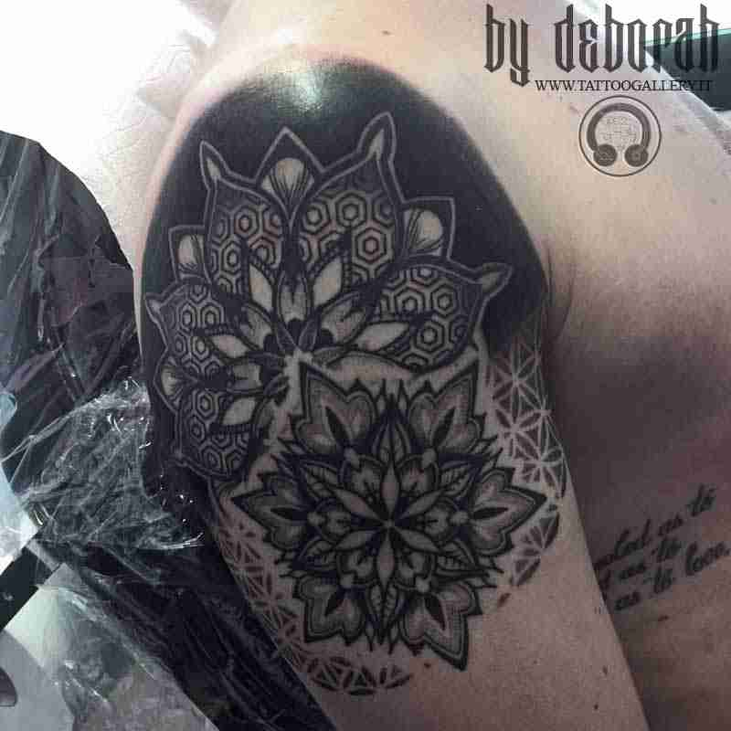 "alt=""mandala tattoo by Deborah """