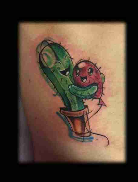 """tatuaggi newschool cactus"""
