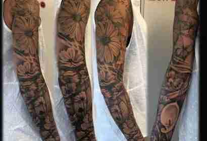 """alt=""""tattoo fiori realistici margherite"""""""