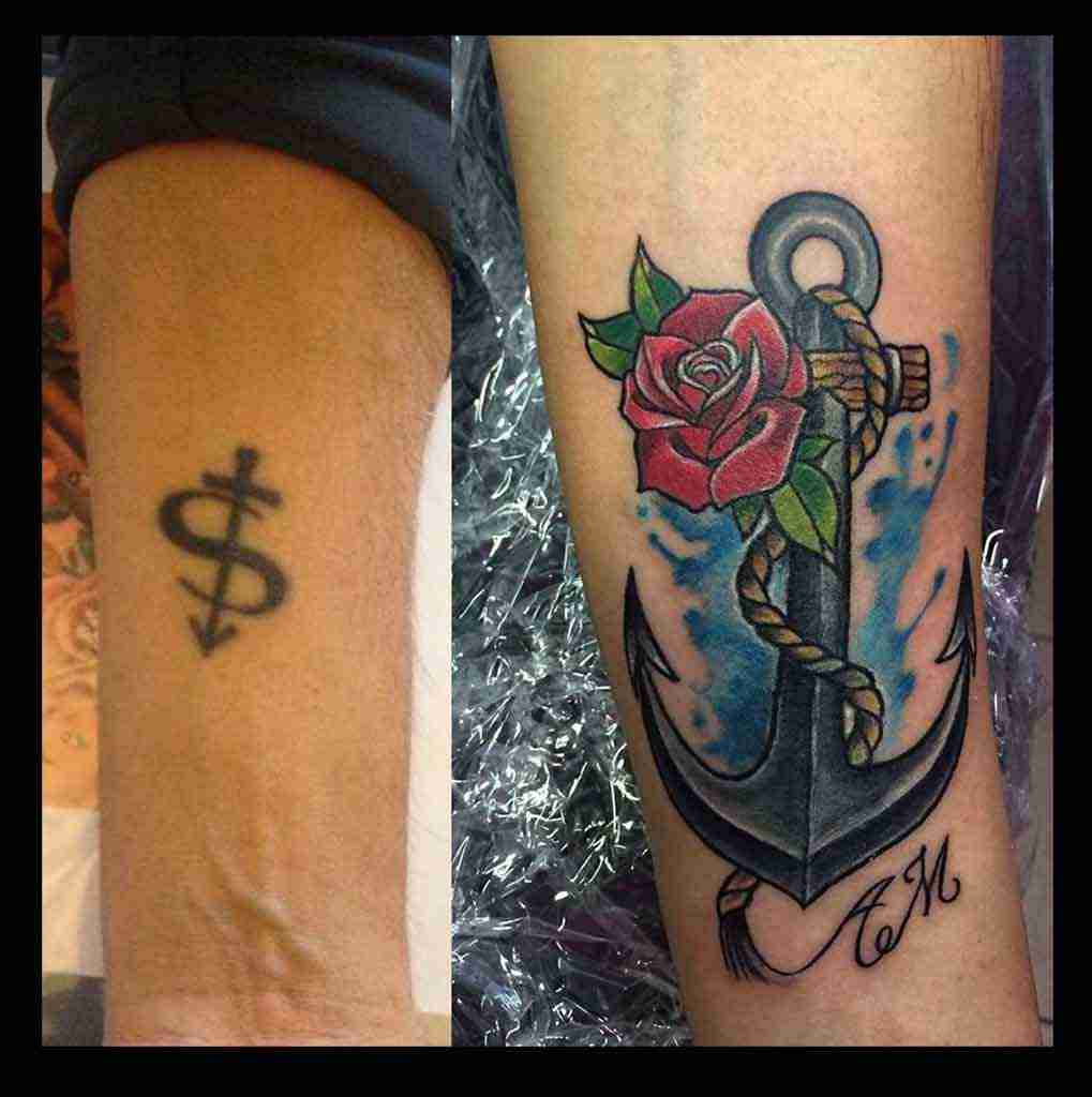 tattoo cover up ancora