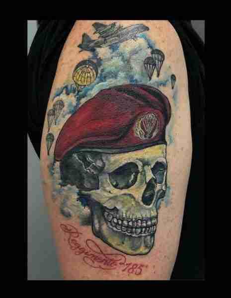 "alt=""tatuaggi newschool teschio parà"""