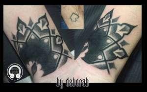 """alt=""""tattoo black work mandala cover up"""""""