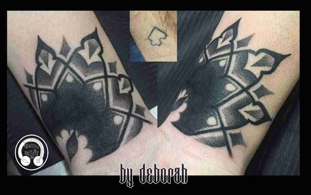 Blackwork tattoogallery by deborah ferranti stile unico for How to cover up tattoos for work