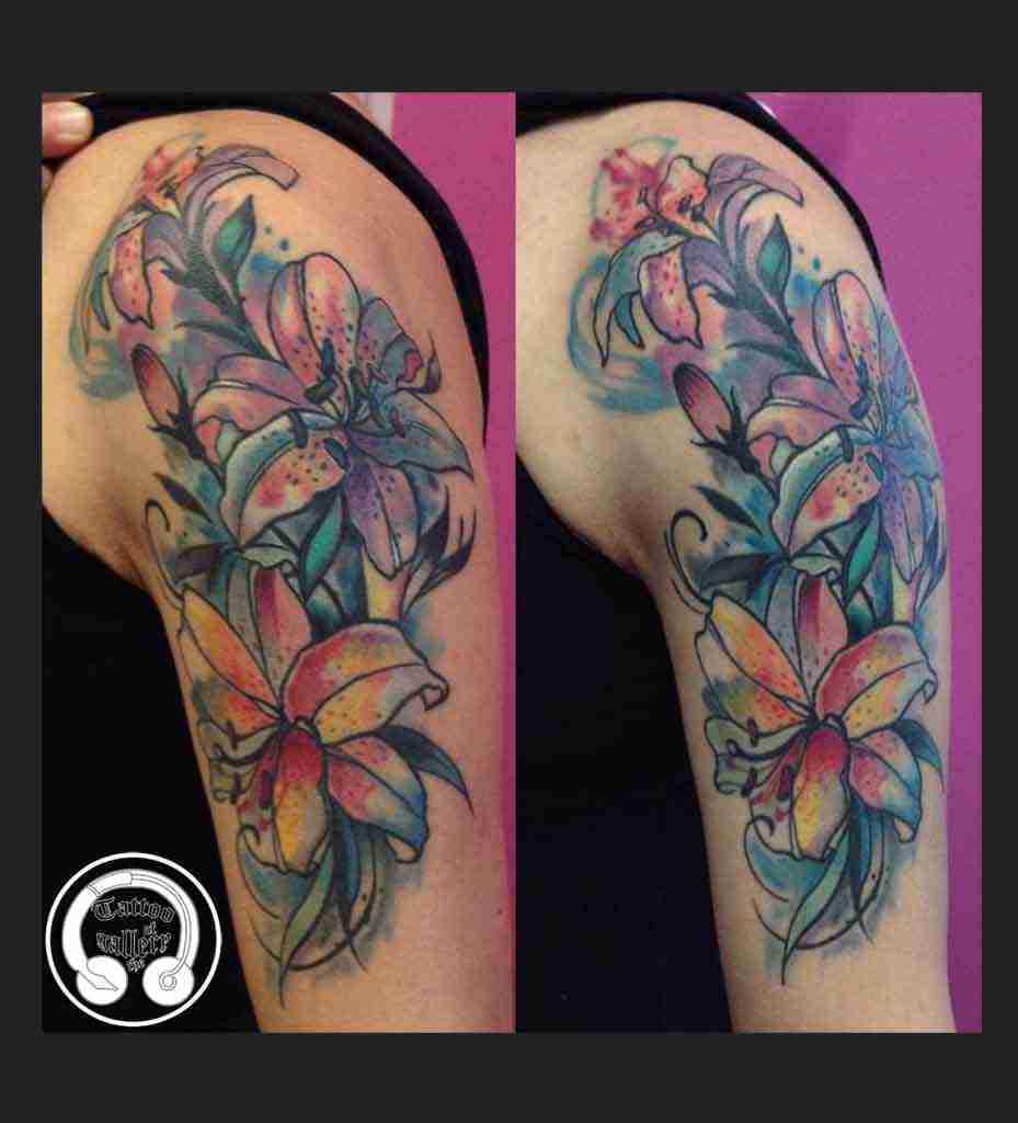 lilium watercolor
