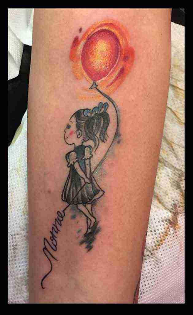 tattoo bimba palloncino