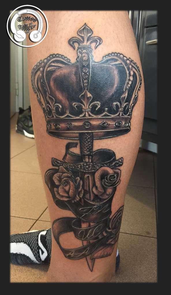 """alt=""""tatuaggi realistici corona"""""""