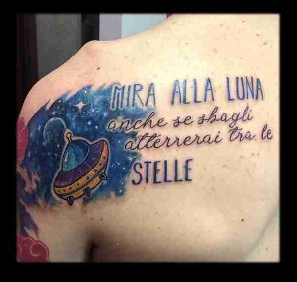 """alt="""" watercolor tattoo galassia"""""""