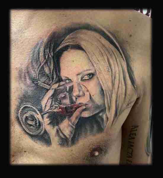 "alt=""tattoo ritratti vergine maria"""