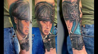 """alt=""""tattoo ritratti Peacky Blinders"""""""