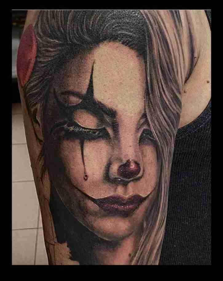 """alt=""""tatuaggi ritratti clown"""""""