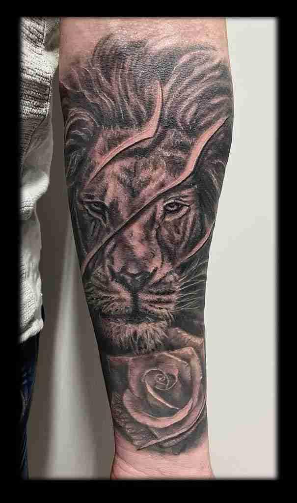 leone e rosa