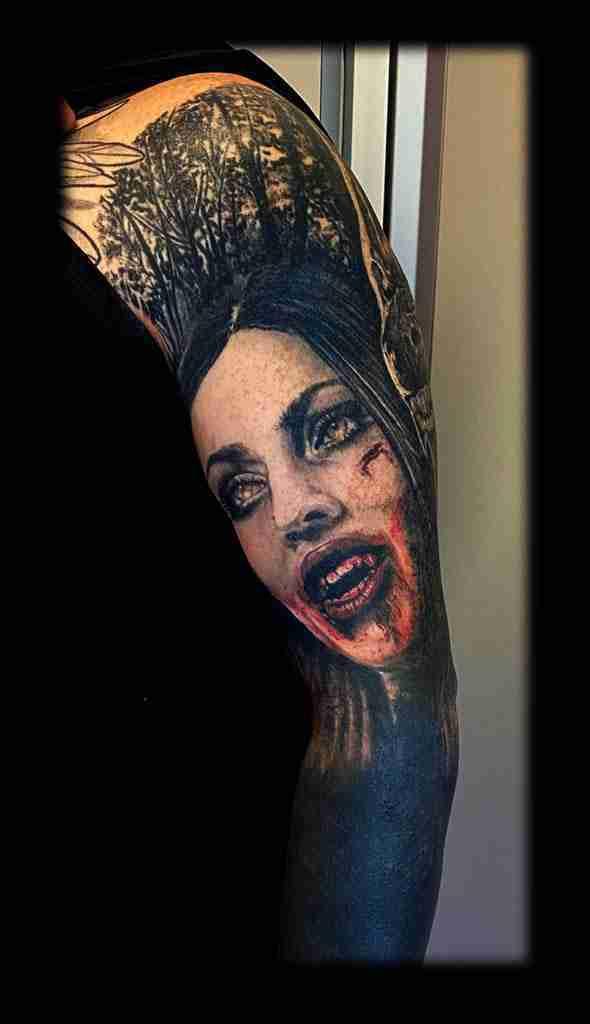 """alt=""""tattoo ritratti vampira"""""""